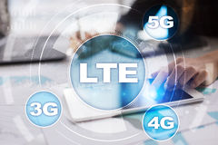 LTE networks. 5G mobile internet and technology concept. Stock Photos