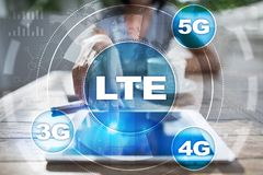 LTE networks. 5G mobile internet and technology concept Stock Photo
