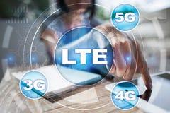 LTE-Netze bewegliches Konzept des Internets 5G und der Technologie Lizenzfreies Stockbild
