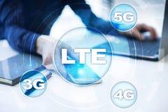 LTE-Netze bewegliches Konzept des Internets 5G und der Technologie stockfotografie