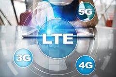 LTE-Netze bewegliches Konzept des Internets 5G und der Technologie Lizenzfreie Stockfotografie