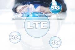LTE-Netze bewegliches Konzept des Internets 5G und der Technologie Lizenzfreie Stockbilder