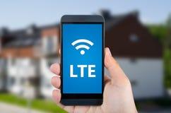 LTE prędkości wiszącej ozdoby wysoki połączenie z internetem obraz stock