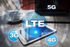 LTE sieci 5G interneta i technologii mobilny pojęcie Obraz Stock