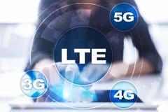 LTE sieci 5G interneta i technologii mobilny pojęcie Fotografia Royalty Free