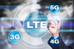 LTE sieci 5G interneta i technologii mobilny pojęcie Obrazy Royalty Free