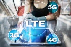 LTE sieci 5G interneta i technologii mobilny pojęcie Zdjęcie Stock