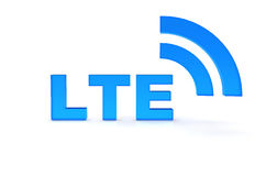 LTE. Text in blue color Stock Photography