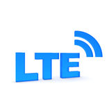 LTE. Text in blue - 3d Royalty Free Stock Photo
