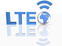 LTE Thechnology. Image of  LTE Thechnology in 3D Royalty Free Stock Image