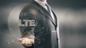 LTE z holograma biznesmena pojęciem ilustracja wektor