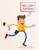 Låter för att ta en bild Royaltyfria Bilder
