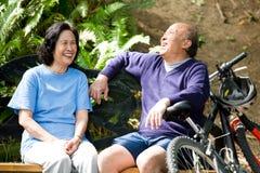 Ältere asiatische Paare Stockfotografie