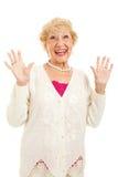 Ältere Frau froh Stockbilder