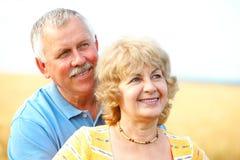 Ältere Älterpaare Stockfoto
