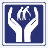 Ältere Menschen Sorgfalt Stockbilder