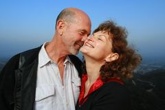 Ältere Paare in der Liebe Stockbilder