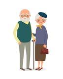 Ältere Paarholdinghände Stockbilder