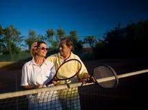 Ältere Tennisspieler Stockbild