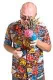 Älterer am Feiertag Lizenzfreie Stockbilder