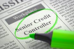 Älterer Kredit-Kontrolleur Join Our Team 3d Stockbild