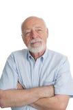 Älterer Mann - Arme gekreuzt Lizenzfreies Stockfoto