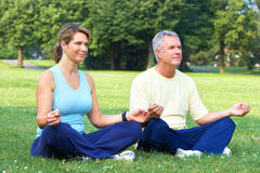 Älteres Yoga Stockfoto