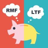 LTF et RMF Photo stock