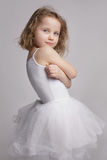 Lttle girl in a ballerina kosyume Royalty Free Stock Photo