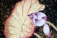 Lótus abstratos pintados Foto de Stock