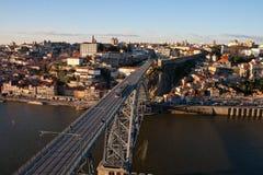 LuÃs I bro i Porto Arkivfoto