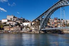 LuÃs I bro, Porto, Portugal Arkivbilder