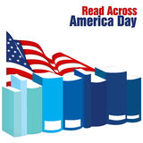 Lu à travers le jour de l'Amérique Photos libres de droits