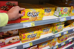 LU Grany biscuit in a store Royalty Free Stock Photo