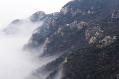 Lushan mountain in the cloud. Lu shan, a mountain located in jiangxi province,China.It is one of the famous mountains of China stock image