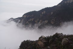 Lushan mountain in the cloud Royalty Free Stock Image