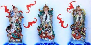 Lu Shou van Fu Gelukkige Goden Stock Afbeeldingen