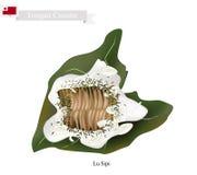 Lu Sipi eller tonganskt kött med kokosnöten i Taro Leaf royaltyfri illustrationer