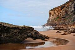 Luaña海滩 免版税库存照片