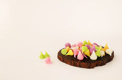 A-Lua是五颜六色的泰国甜点 免版税库存照片