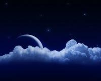 Lua atrás das nuvens Foto de Stock