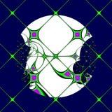 Lua através dos Windowpanes Imagens de Stock Royalty Free