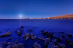 Lua azul Imagens de Stock Royalty Free