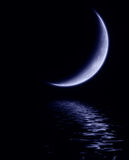 Lua azul ilustração royalty free