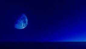 Lua azul 02 Imagem de Stock Royalty Free