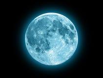 Lua azul Fotografia de Stock