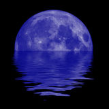 Lua azul Fotografia de Stock Royalty Free