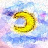 Lua bonita em geométrico abstrato de denominação geométrico Fotografia de Stock Royalty Free