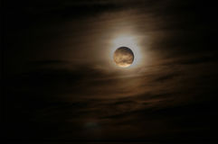 Lua brilhante ilustração stock