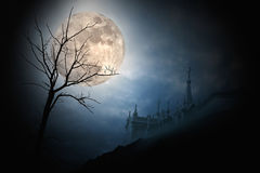 Lua cheia de Halloween Foto de Stock